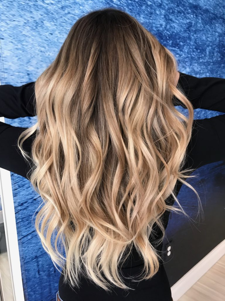blonde, balayage, beach waves, summer blonde, blonde hair