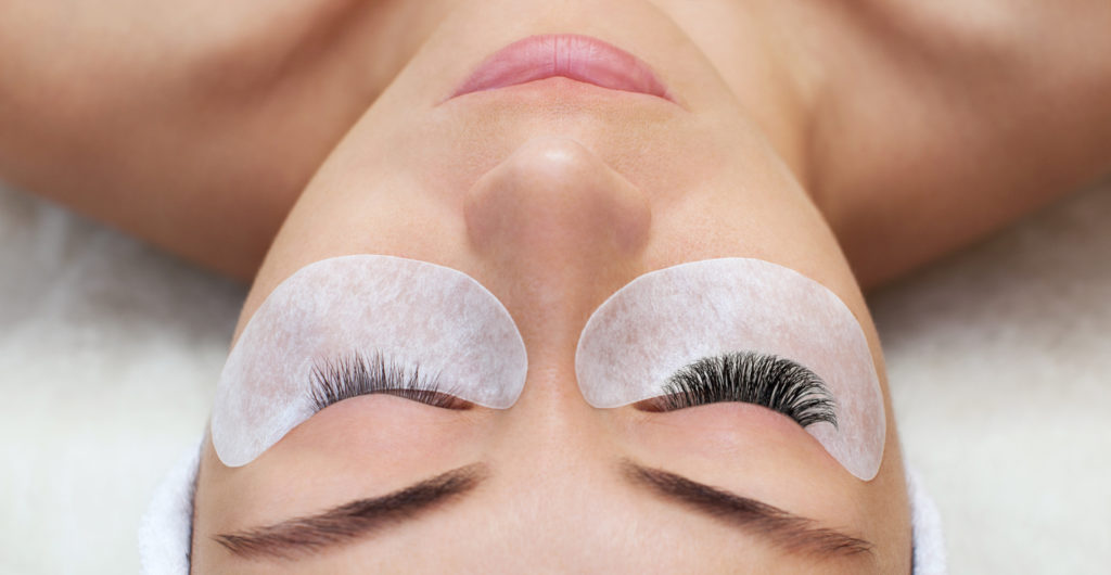 Eyelash extensions, long eyelashes, falso eyelashes