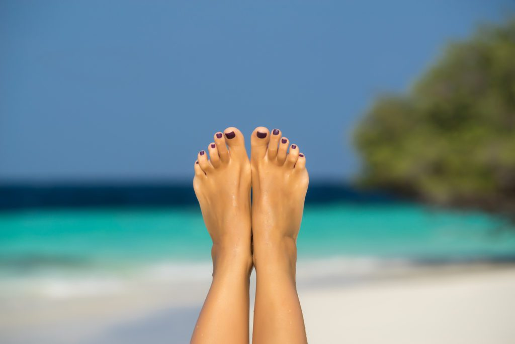 pedicure, beach, summer, feet, pretty toes