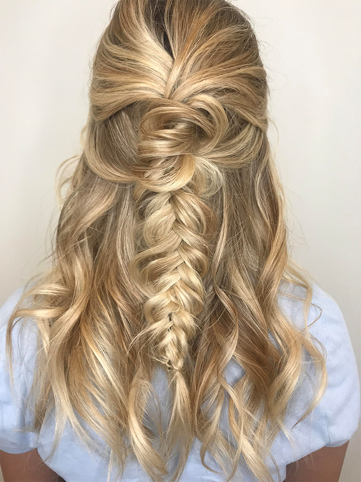 boho hairstyle, boho braid