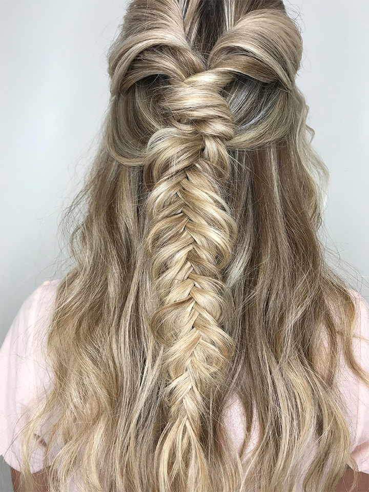 fishtail braid, boho braid