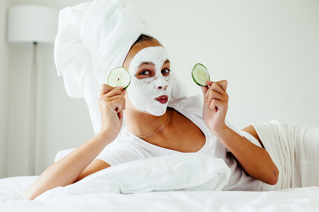 facial, skincare, at home beauty, skin mask